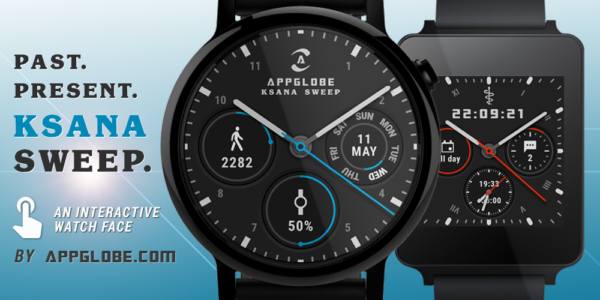Ksana Sweep Watch Face - square, round, step counter date & battery.