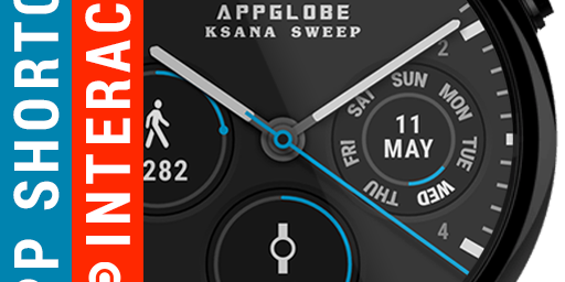 Ksana Sweep - an interactive watch face with app shortcuts