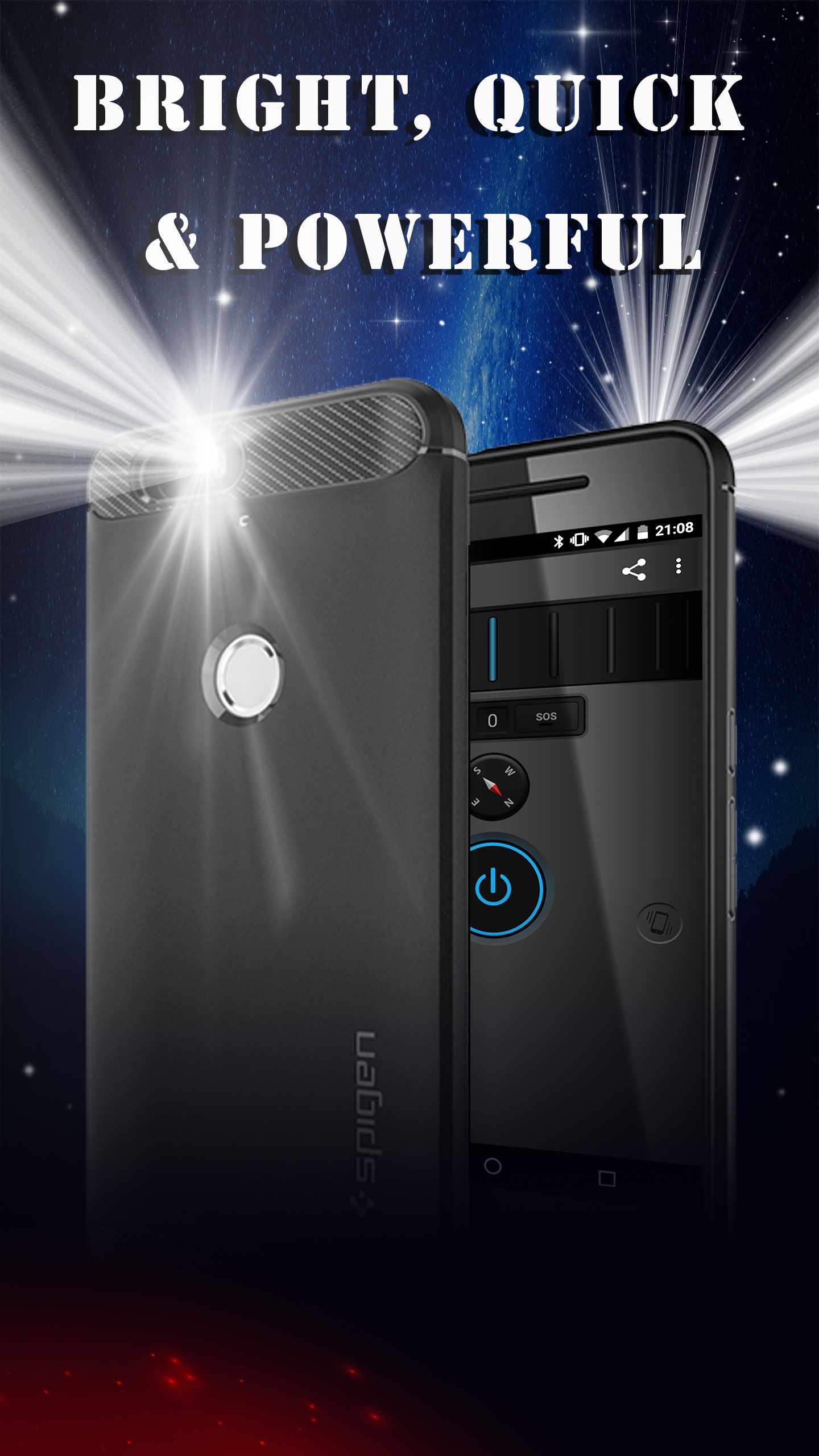 brightest, quickest & most powerful LED flashlight. Truly multi-functional.