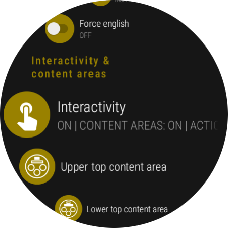 Ksana settings & Interactivity